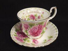 Royal Albert November Chrysanthemum Month Cup Saucer 1970 Bone China England