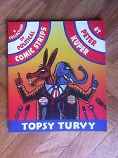 TOPSY TURVY A COLLECTION OF POLITICAL COMIC STRIPS FINE  (C14)