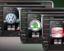 AUTORADIO GPS XTRONS SKODA SEAT ALTEA XL LEON GOLF PASSAT POLO USB SD DVX CANBUS