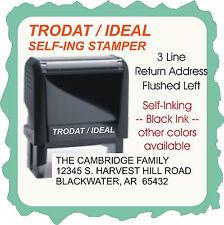 Return Address, Aerial Font, 10 point, Trodat Printy/Ideal 4913, Self-Ink Stamp