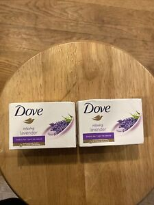 DOVE RELAXING LAVENDER BEAUTY BAR SOAP 2 Bars (BARS 4 OZ EACH) - NEW IN BOX