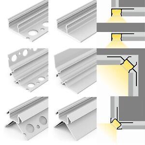 1m LED Aluminium Alu Profil Fliesenprofil Trockenbau Schiene Gipskarton Fliesen
