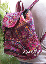 Hippie Backpack Indian Cotton Mandala Unisex Backpack Bag With Adjustable Strap