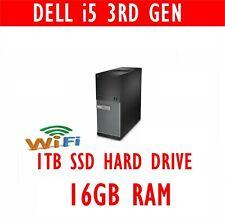 FAST DELL i5 3rd GEN COMPUTER PC 16GB RAM 1TB SSD  WINDOWS 10 OR WINDOWS 7