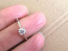 Ladies Stunning 9ct White Gold 1/2 Carat Diamond Solitaire Ring  -  Size O