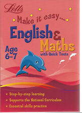 Letts Make It Easy english & maths with quick tests step-step learning AGE 6-7