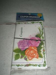 COUPON ORGANIZER  w/ floral design  Good Living NEW in Bag