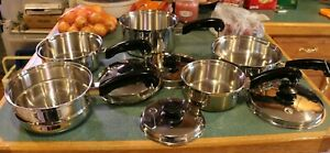 SALADMASTER 9 Piece Salad Master T304S Stainless Steel Cookware with Vapo Valve