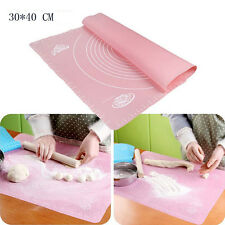 Silicone Baking Cake Dough Fondant Rolling Kneading Mat Scale Table Grill Pad