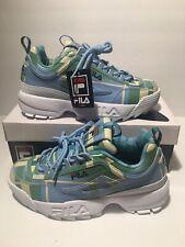 FILA Disruptor II Blue White Multi Platform Shoes Men's Size 8 NEW with BOX!