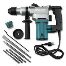 "New 1"" Electric Rotary ROTO Hammer Drill SDS Concrete Chisel Kit w/ Bits NEW"