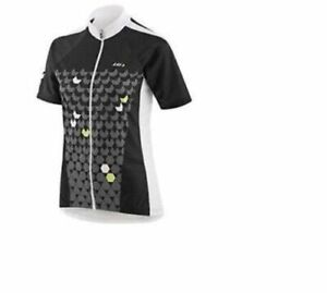 LOUIS GARNEAU, BLACK/GREEN, MEDIUM, WOMEN's CRYSTAL CYCLING JERSEY