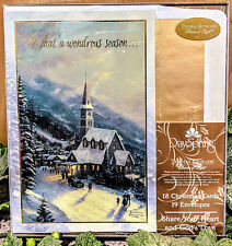 "Thomas Kinkade ""What A Wonderous Season"" Christmas Cards by DaySpring"