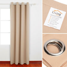 """Thermal Insulated BLACKOUT Curtain Grommet 1 Panel Length 63 84 96"""", 7 Colors"""