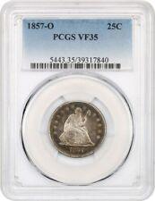 1857-O 25c PCGS VF35 - Scarce O-Mint Seated Quarter - Liberty Seated Quarter