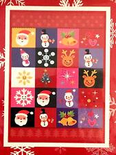 "Nantucket Decorative Christmas House Flag 28x40"" Santa Reindeer Snowflakes NEW"