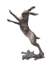 More details for richard cooper bronze medium hare boxing ltd ed ornament by michael simpson