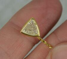 Quirky 1.15 Carat Trillion Cut Diamond 18ct Gold Stick Tie Pin