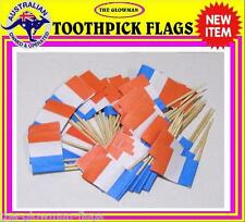 French flag France flag toothpicks for cooking cupcakes cocktails party supplies