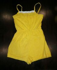 VINTAGE 1970's YELLOW TERRY CLOTH ROMPER NEVER SIZE L