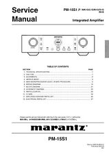 Marantz PM-15S1 Integrated Amplifier Service Manual and Repair Guide Diagrams