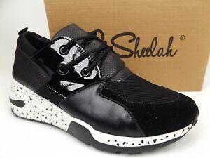 La Sheelah Galaxy-01 Fashion Chunky Wedge Sneakers Women's Size 9.0, Black NEW
