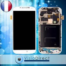 Ecran vitre complet sur chassis pour Samsung Galaxy S4 Advance i9506 blanc