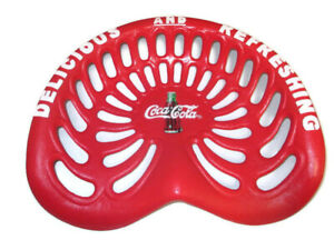 Coca-Cola Red Cast Iron Decorative Tractor Seat Garden Game Room Bar Stool