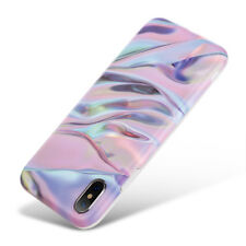 Apple iPhone XR XS Max X Rubber Soft TPU Case Cover Granite Stone Marble Pattern