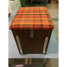 T2 Westfalia Wooden Buddy Seat / Storage Box Orange C9609O