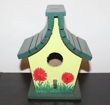 Wood Hand Painted Birdhouse Poppy Theme