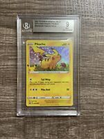 Pokemon Pikachu 25th Anniversary Stamped Holo Foil Promo Card BGS9 (Maybe PSA9)