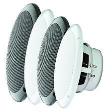 """E-audio blanc 5 """"haute qualité double cône humidité résistant haut-parleurs (8 Ohms 80 W)"""