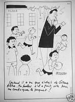 PUBLICITÉ CIGARETTES GITANES - ÉCOLE - DESSIN DE BERNARD ALDEBERT - TABAC