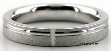 14K WHITE GOLD MENS WEDDING BANDS RINGS  4MM
