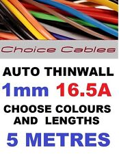 5M 1mm 12V AUTO CABLE,CAR LOOM WIRE,16A, 1.0mm 32/0.20 THINWALL 5 METRES