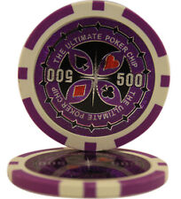 100pcs Ultimate Casino Laser Clay Poker Chips $500