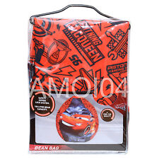 Disney Cars 3 Lightning McQueen Bean Bag 100L Capacity New
