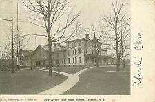 c1906 Postcard New Jersey Deaf Mute School, Trenton NJ Mercer County Posted