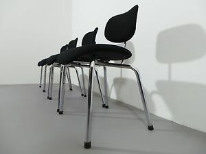 Egon Eiermann 1 X Chair Se 49 Wild & Spieth Woll-Stoff Black