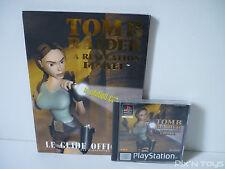 Sony Playstation 1 Tomb Raider La Revelation Finale Jeu + Guide PAL FR