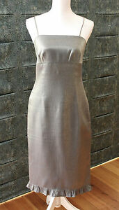 Gorgeous Brown Sugar Collection Dress shimmering Green / Grey Size 10 GC