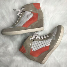 GEOX fashion wedge sneakers suede 9 Italian patent