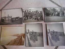 6 vecchie foto DERNA Libia Ufficiali Regio Esercito Italiano guerra campagna di