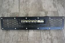 Custom Steel Bumper Grille + 40W LED Light Bar for 2010-14 Ford F-150 Raptor SVT
