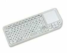 Rii Mini Wireless 2.4Ghz Keyboard/Touchpad with Laser Pointer - White (RT-MWK01)