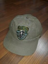 Authentic C C Filson Tin Cloth Fishing Hat Embroidered Logo Strapback