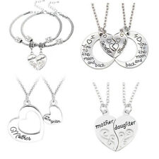 Mother And Daughter Necklace Heart Pendants Gifts For Her Mom Presents Jewelry