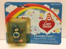 "1982 Care Bears ""Grumpy Bear"" Dropping Ice Cream On His Foot In Box By Kenner"