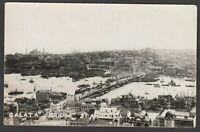 Postcard Constantinople Istanbul Turkey the Galata Bridge early RP